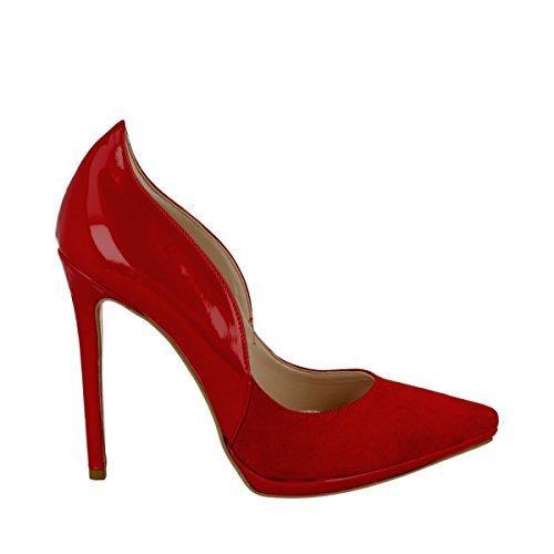 Altramarea - Altramarea decoltè vernice rosso - 35, Rosso