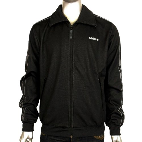 Mens Adidas Originals SPO Beckenbauer BB Tech Black Track Suit Top Jacket S