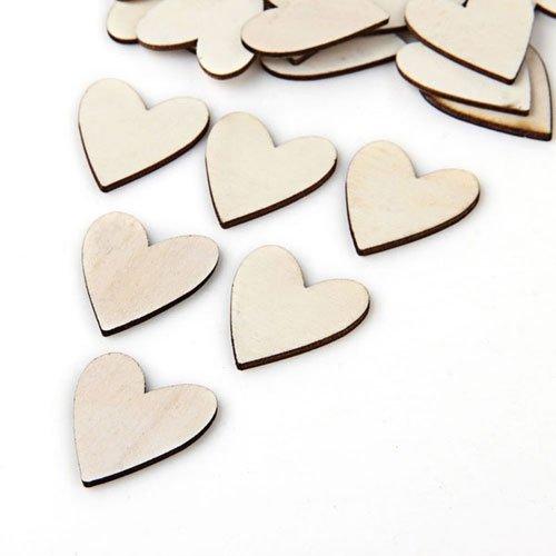 20 pz perline in legno forma cuore fai da te 28x25mm for Piani a forma di l per piccoli lotti