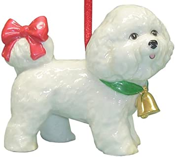 #!Cheap Cute Christmas Holiday Bichon Dog Ornament Statue Figurine Decoration