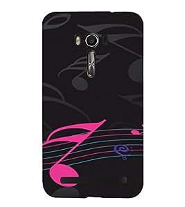 PrintVisa Music Notes Design 3D Hard Polycarbonate Designer Back Case Cover for Asus Zenfone Go