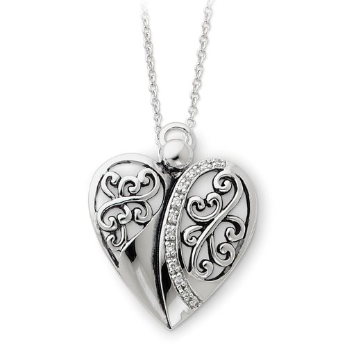 Sterling Silver Angel of Love Sentimental Expressions Necklace