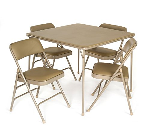 Heavy Duty 5 Piece Xl Card Table And Triple Braced Padded