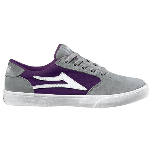 Lakai Men's Pico Skate Shoe,Grey/Purple Suede,9 M US