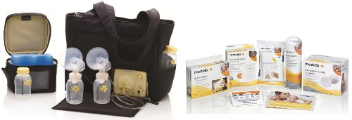 Medela Pump In Style Advanced On-The-Go Tote Double Electric Breast Pump Solution Set With Bonus Kit And Accessories With Bonus Breast Care Kit From Mom And Baby Shop