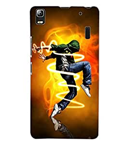 ColourCraft Dance Freak Design Back Case Cover for LENOVO A7000