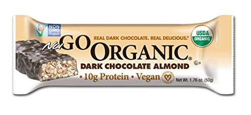 NuGo Organic Nutrition Bar, Dark Chocolate Almond, 1.76-Ounce Bars (Pack of 12)