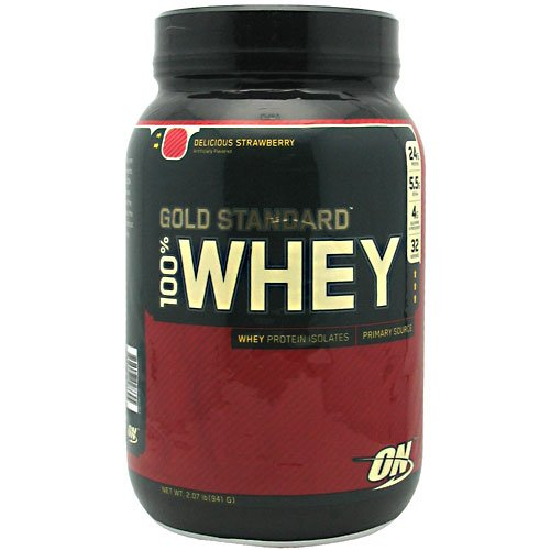 Optimum Nutrition 100% Whey Gold Strawberry, Strawberry 2.07 Lb