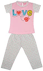 Myfaa Baby Girls Printed Top & Pyjama Set (GNS2P-037-20, Multi-Coloured, 18-24 Months)
