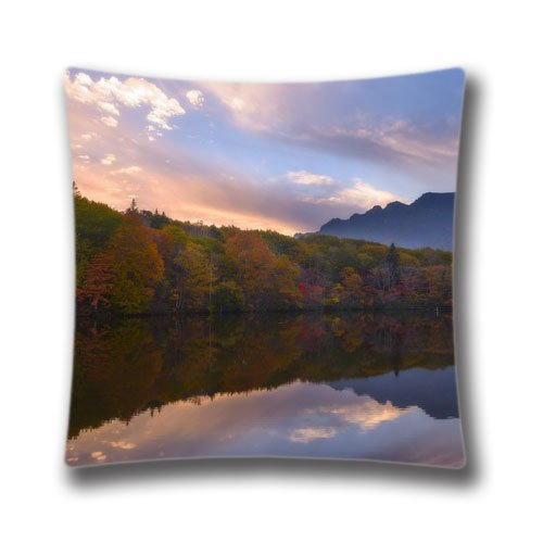 "Mirror Lake Personalized Square 18""x18"" Throw Pillow Case Decor Cushion Covers"
