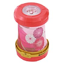 Doppelganger Outdoor Flashlight Pop-up 2way LED Battery Lantern Longest Continuous Lighting Time 80h Candle-mode Red