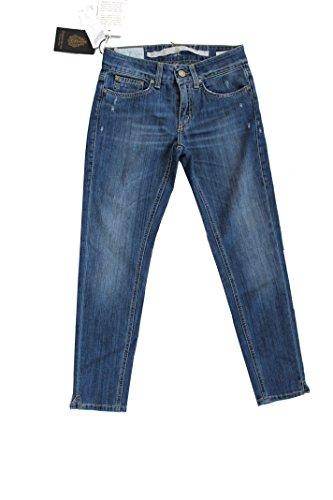 Dondup Jeans Leg Donna Lavaggio Chiaro Limited Edition Slim Fit Made In Italy (39, blu chiaro)