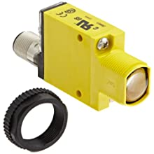 Banner SM31RLQD Mini Beam Photoelectric Sensor, Opposed Mode Receiver, 4-Pin Euro-Style QD Connector, Infrared LED, 10-30 VDC Supply Voltage, Bipolar (NPN and PNP) Output, 30 m Sensing Range