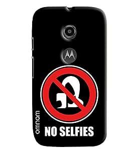 Omnam No Selfies Written Printed Designer Back Cover Case For Moto E2
