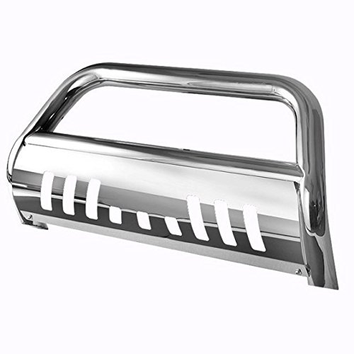Bull Bar Skid Plate Front Push Bumper Grille Guard Stainless Steel Chrome for 2007-2013 Chevy Silverado / GMC Sierra 1500 New Body Style (09 Silverado Bull Bar compare prices)