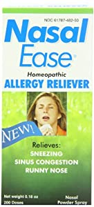 Nasal Ease Homeopathic Allergy Reliever,Nasal Powder Spray,One .18oz bottle