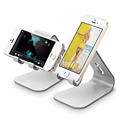 elago M2 Stand for all iphones, Galaxy and Smartphones (Angled Support for FaceTime) (Silver)