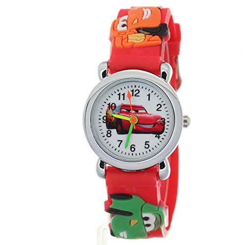 TimerMall Cartoon 3D Strap Round Dial Kids Boys Girls Analog Watches Cars Pattern (Round Dial Analog Watch compare prices)