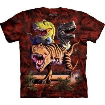 The Mountain Rex Collage T-Rex Youth T-Shirt M front-642711