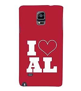 EPICCASE I love All Mobile Back Case Cover For Samsung Galaxy Note 4 (Designer Case)
