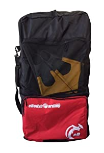 eBodyboarding Double Sponge Sack - Black with red pocket by eBodyboarding