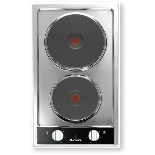 2 Burner Electric Cooktop ~ Verona cte fs quot electric cooktop with burners and