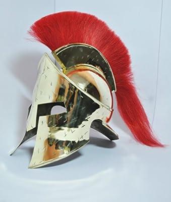 Collectibles Medieval Roman Spartan Helmet,king 300 Brass Armor Larp Helmet Medieval Roman Corinthian Helmet Armour King Leonidas Greek Spartan 300 Helmet