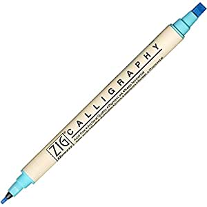 Zig Memory System Calligraphy Marker Blue
