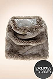 Twiggy for M&S Woman Faux Fur Snood Scarf