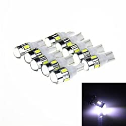 See T10 3W 144lm 6 x SMD 5630 LED White Car Signal Light w/ Lens -(DC 12V / 10 PCS) , White Details