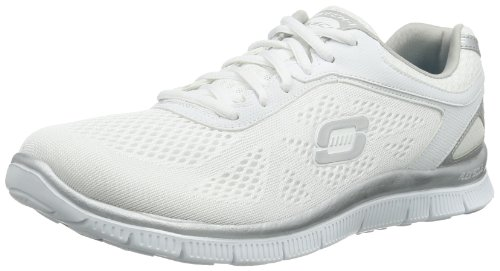 Skechers Flex Appeal Love Your Style 11728, Sneaker Donna, Bianco (WSL), 37
