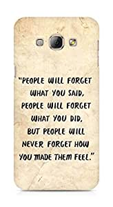 AMEZ people will forget what you said did Back Cover For Samsung Galaxy A8