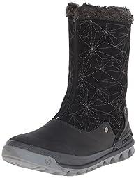 Merrell Women\'s Silversun Zip Waterproof Boot, Black, 9.5 M US