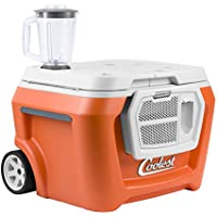 The Coolest 55-Quart Cooler with High Performance Blender and Bluetooth Speaker (Classic Orange)