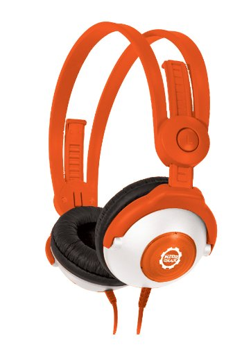 Kidz Gear Wired Headphones For Kids - Orange front-153631