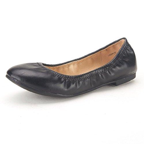 DREAM PAIRS LUCCY Lady Elastic Plain Ballet Comfortable Flexible Flats Shoes
