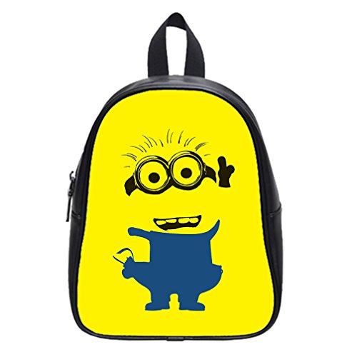 DONGMEN-Despicable-Me-Minions-Pu-Leather-Kids-Large-Zip-School-Book-BagsBackpacks