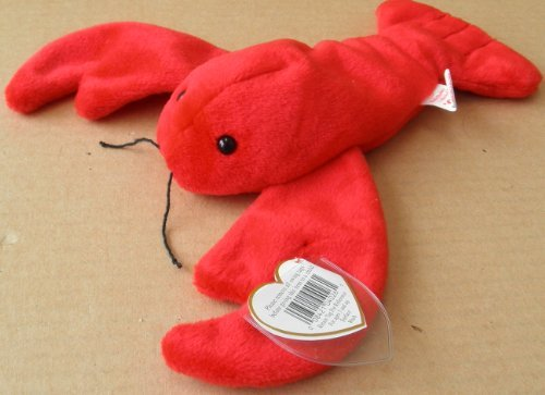 TY Beanie Babies Pinchers the Lobster Plush Toy Stuffed Animal