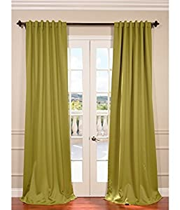 Moss Green Blackout Curtain by Exclusive Fabrics & Furnishings