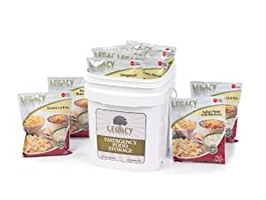 Survival Food Storage - 60 Large Servings - Freeze Dried Meal Assortment - 18 Lbs -... by Legacy Premium Food Storage