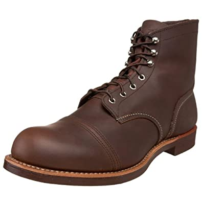 Red Wing Mens Iron Ranger Amber Harness Work Boot - 4.5 D