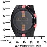 PUMA Women's PU910482003 Shift Black and Pink Digital Watch