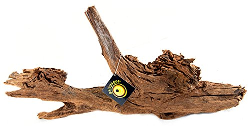 Galapagos (05286) Sinkable Driftwood Bed, Natural, Medium/Large/14-16""
