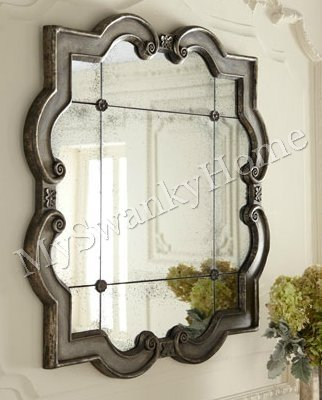 3 I7stop Shopping Cheap Large Ornate Silver Square Wall Mirror Quatrefoil Amazing Perfect Deals