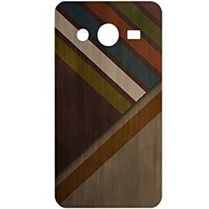 Casotec Wood Colourfull Pattern Design Hard Back Case Cover for Samsung Galaxy Core 2 G355H