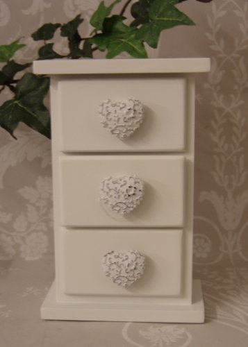 Shabby Chic Style Mini Chest of Drawers ideal for Jewellery of Knik Knaks for the Bedroom Bathroom or kitchen