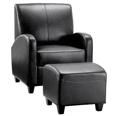 LPD Furniture Club Chair & Stool, In Black