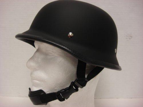Size L Motorcycle Biker Cruiser Novelty Matte black German Helmet Softail Touring