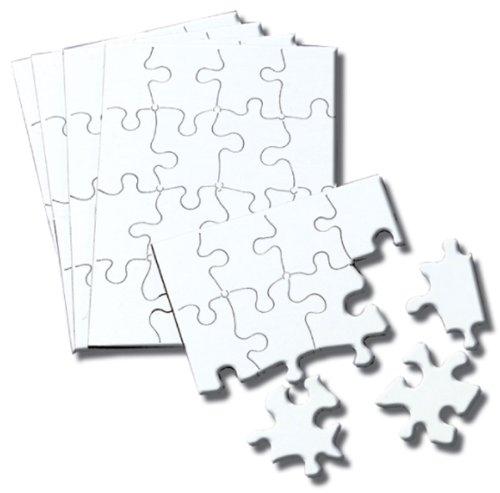 inovart puzzle-it blank puzzles 16 pieces 4 u0026quot  x 5-1  2 u0026quot