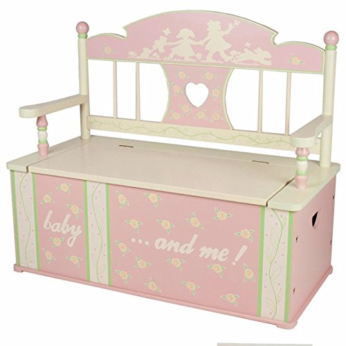 Levels Of Discovery Rock-A-My-Baby Bench Seat with Storage Pink/Cream